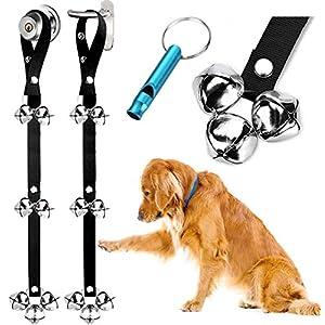 2 Pack Dog Doorbells Premium Quality Training Potty Great Dog Bells Adjustable Door Bell Dog Bells for Potty Training Your Puppy The Easy Way – Premium Quality – 7 Extra Large Loud 1.4 DoorBells