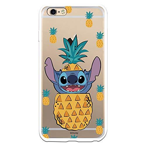 Funda para iPhone 6 Plus - 6S Plus Oficial de Lilo & Stitch Stitch Piñas para Proteger tu móvil. Carcasa para Apple de Silicona Flexible con Licencia Oficial de Disney.