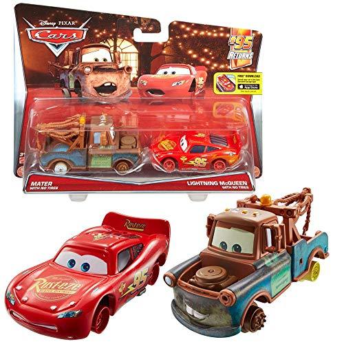 Doppelpack Modelle Auswahl | Disney Cars | Cast 1:55 Fahrzeuge Auto | Mattel, Typ:Hook & Lightning ohne Reifen