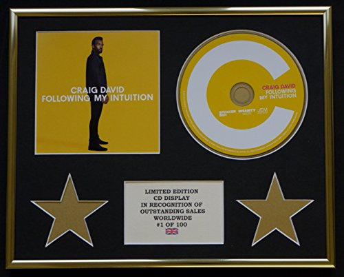 Everythingcollectible Craig David/CD-Darstellung/Limitierte Edition/COA/Following My Intuition