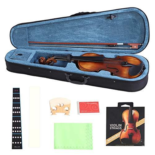 Fichte Holz 4/4 Violine mit Aufbewahrungskoffer Bow Kolophonium Zubehör für Anfänger Anfänger Als Geschenk an die Familie eines Freundes