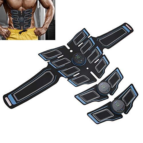 Electroestimulador Muscular,EMS Parche muscular abdominal Cinturón Brazo Pierna Estimulador de entrenamiento muscular Equipo de ejercicios para hombres Mujeres Pierna del vientre(Azul)