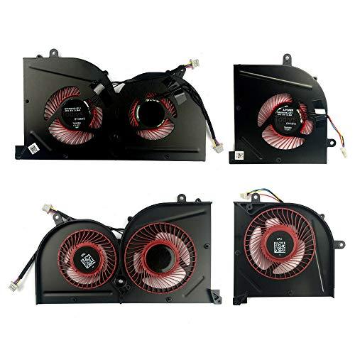 Todiys CPU + GPU Cooling Fan for MSI GS63 GS63VR 6RF 6RF-001US 7RF 7RF-212UK GS73 GS73VR 6RF 6RF-005CA 7RF 7RE-004CN 7RG 7RG-026RU 7RG-039NL MS-16K2 MS-17B MS-17B1 BS5005HS-U2F1 BS5005HS-U2L1
