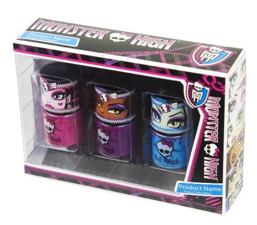 """Monster High """"Scream Team"""" 3 x Nail Polish S"""