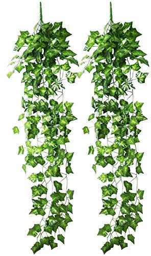 Colgando artificial Hiedra arbusto de hojas d