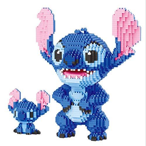 JIGSAWTOY YAW Kunststoffteilchen Micro Building Blocks Puzzle, Stich Toy Cartoon Kinder pädagogisches Spielzeug Puzzle, Erwachsene Dekompressiongeschenk