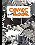 Blank Comic Book: Draw Your Own Comics | 100 Variety Comic Strip Pages | Art and Drawing for Kids | Orange
