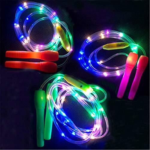 ffshop Speed Skipping LED Leucht Jump Rope Luminous Seilspringen Kinder Übungs Stay at Home Fitness Workout Springseil Ausrüstungen Unisex Verstellbares Springseil