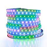 ALITOVE Tira de luz LED RGB direccionable WS2811 Dream Color Digital Programable Flexible LED Pixel Tape Light 24V 10m 600 LEDs...