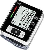 Monitores de presión arterial, pantalla LCD grande, Máquina de BP digital automática totalmente precisa para uso en el hogar Detector de latidos y hipertensión irregulares con 2 * 60 almacenamiento