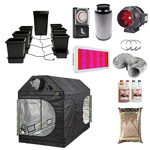 Green Box Loft Grow Tent 240x120x160cm - 6-Pot Autopot System - Canna Coco - LED Grow Light - Timer