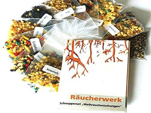 Räucherwerk, Schnupper-Set Weihrauchmischungen, 10tlg, incl. 32seitige Broschüre