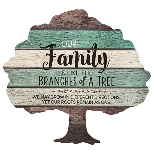 Price comparison product image P. Graham Dunn Our Family is Like The Branches on a Tree 13 x 12.25 Tree Shape Wood Wall Art Sign