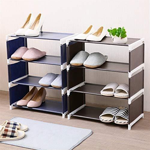 Estantes de almacenamiento multifuncionales y sólidos, estantes para zapatos, organizador de 3 capas, para sala de estar, dormitorio, almacenamiento de 4 capas (color: 5 capas azul)