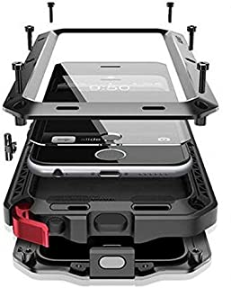 CarterLily Shockproof Dustproof Water Resistant Aluminum Armor Full-Body Protection Case for iPhone 6 Plus/iPhone 6S Plus (Black)