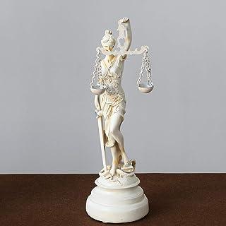 目隠しされた正義の女神像、ローの女神の彫刻彫刻プレミアム樹脂博物館グレードの法律事務所のギフト用の置物-a 15x15x57cm(6x6x22inch)