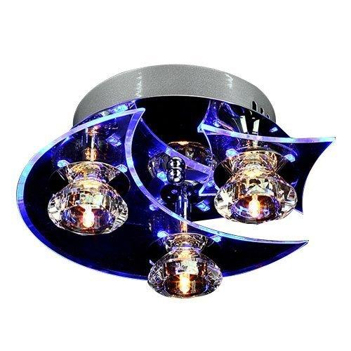 Moderne Forme ronde LED Crystal Moon étoile plafond Lampe Lustre Pologne entrepôt