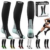 Compression Socks for Nurses Men & Women - Fitness Travel Pregnancy Circulation