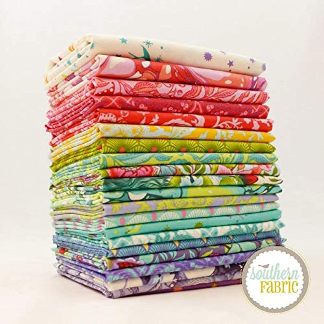 Free Spirit Pinkerville Fat Quarter Bundle (21 pcs) by Tula Pink 18 x 21 inches (45.72cm x 53.34cm) Fabric cuts DIY Quilt Fabric