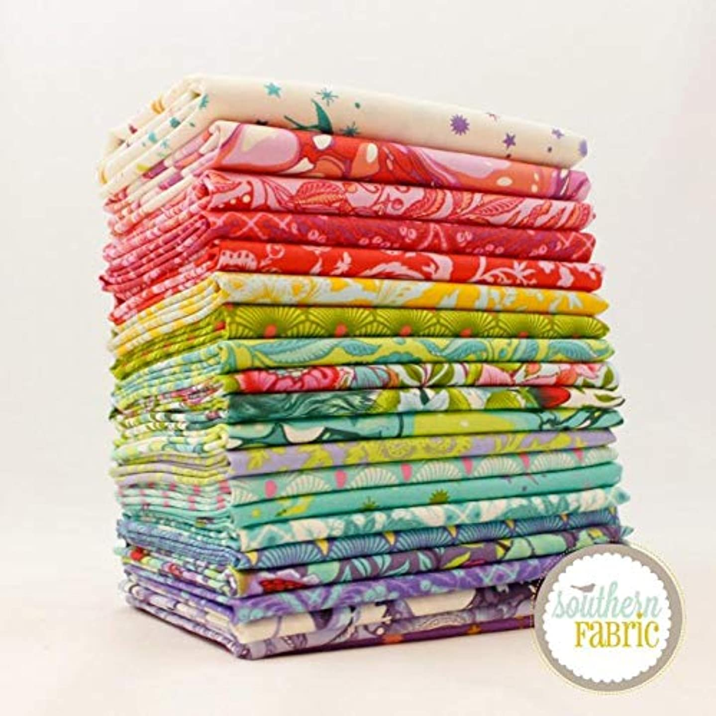 Free Spirit Pinkerville Fat Eighth Bundle (21 pcs) by Tula Pink 9 x 21 inches (22.86cm x 53.34cm) Fabric cuts DIY Quilt Fabric