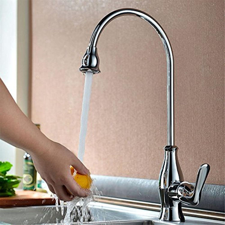 Küchenarmatur Wasserhahn Mit Dual-Spülbrause Europische Küche Fein Kupfer Becken Wasserhahn Kupferchrom Warmen Und Kalten Wasserhahn Bleifreie Umwelt Gesundheit Sanitr Hardware Wasserhahn A