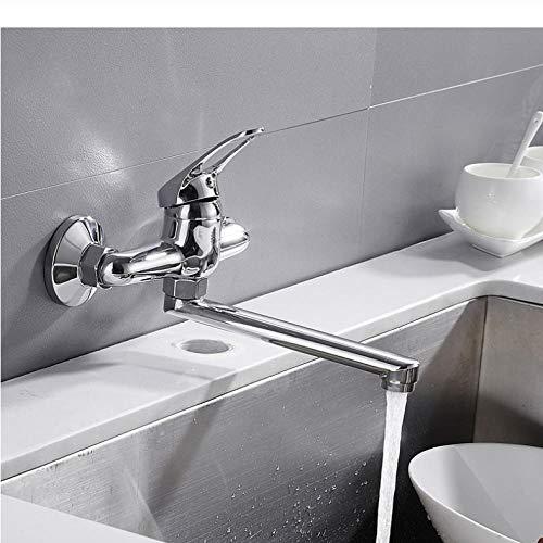 Djkaa wandmontage keukenkraan verlengstuk koper draaiende eenhands-wastafel waterkraan warm koud water mixer pool kraan wastafel waterkraan