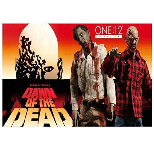 wzgsffs Mezco One12 Collective Dawn of The Dead Flyboy Plaid Shirt Zombies Figuras Póster E Impresiones Arte De Pared Home-24X32 Inchx1 Frameless