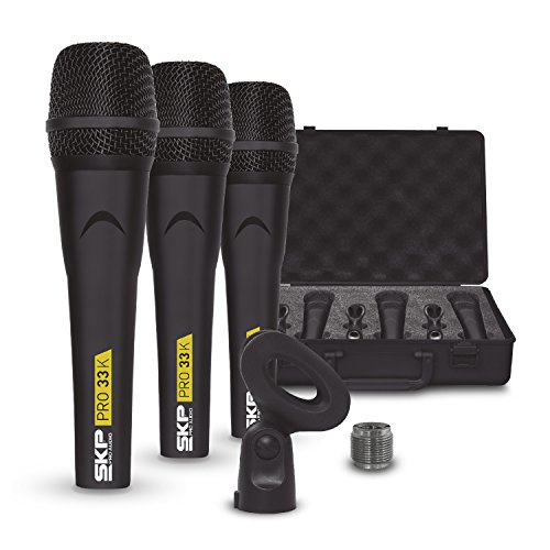 SKP Pro Audio PRO-33K Dynamic Cardioid Microphone Kit (3 Microphones)