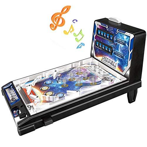 MUJING Space Pinball Game Machine Mini Juguete De Pinball Los Niños Juegan Electronic Super Pinball Game Máquina De Pinball De Rompecabezas para Padres E Hijos - Arcade Retro, Regalos De Cumpleaños
