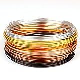 Creacraft Alambre de Aluminio Artístico para Bisutería'otoño dorado' - 30m, rollos a 5 metros de varios colores (1mm)