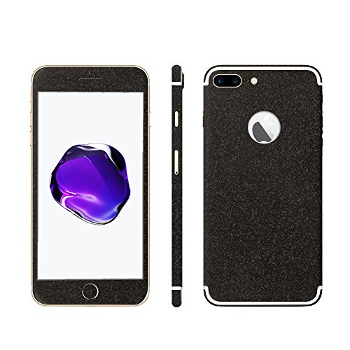 Luch iPhone 7 8 X Glitter Screen Skin Diamond Shine Sticker plakfolie beschermfolie voor de voor- en achterkant, iPhone 7 Plus / 8 Plus, zwart