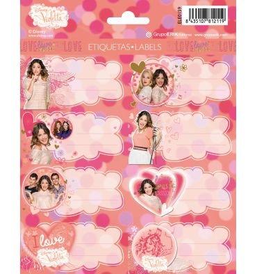 16 Etiketten Violetta, Sticker für Ihre Bücher, Ordner, Hefte und neu auf dem Bild der Figuren von Violetta c/s
