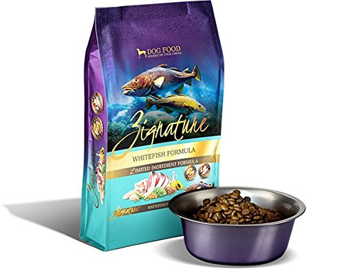 Zignature Whitefish Limited Ingredient Dog Food. Hypoallergenic Meat First Recipe. (1 Pack, 27 Pound Bag) Low Sodium Dog Food Diet