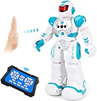 Auney Robot Toys for Kids, Smart Programmable Remote Control Robots, Infrared Sensing RC Robot Intelligent Toy for Boys...