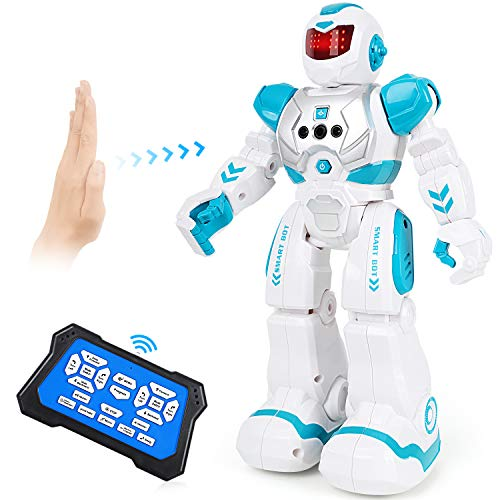 Auney Giocattoli Robot per Bambini, RC Robot Intelligente Interattivo Programmabile Control Giocattolo per Bambini (Verde)