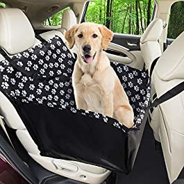 Funpet Car Booster for Dogs,Waterproof Dog Seat Covers Pet Car Blanket with Dog Seat Belt, Travel Seat protector Dog Basket for Back Seat Front Seat Dog Seat Cover (68 x 57 x 33 CM)