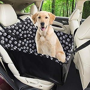 Wimypet Refuerzo de Coche para Perros, Fundas de Asiento de Perro a Prueba de Agua Manta de Auto para Mascotas con Cinturón de Seguridad para Perro(68 x 57 x 33 CM)