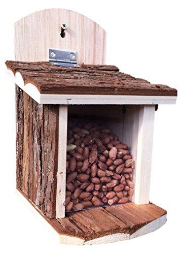 Greenkey Garden & Home - Futterstationen für Eichhörnchen in braun, Größe 23x12x21 cm