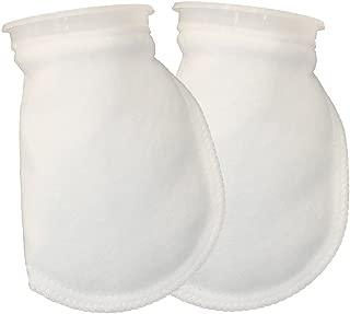 Aquatic Experts 4 inch Filter Sock 100 Micron Aquarium Filter Socks - 4 Inch Ring x 8 Inch Short Premium Felt Bags USA