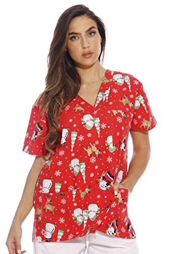 Just Love 216VG-1-M Women's Scrub Tops/Holiday Scrubs/Nursing Scrubs