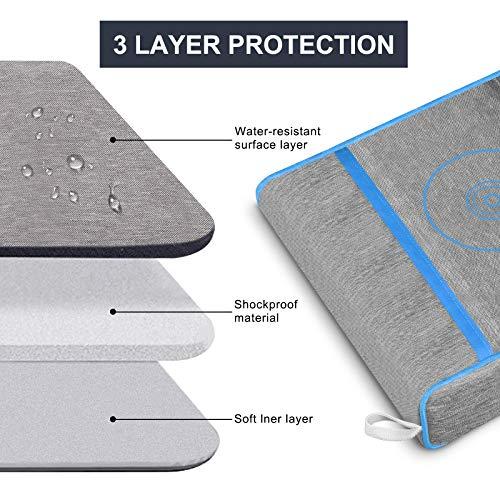 Anti-Staub-Abdeckung für PS5,Schutzhülle für Sony Playstation 5,Anti Scratch Wasserdicht,Unterstützung für PS5, Controller und 12 Game Discs (Blau)