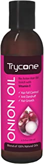 Trycone Onion Hair Oil with Vitamin E,100% Natural Oils and Herbs, 200 Ml