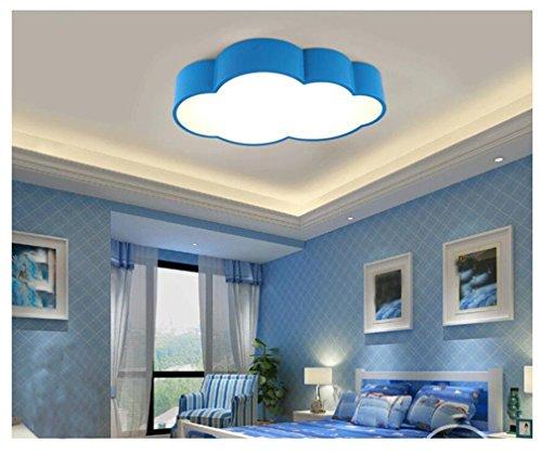 GRFH Ferngesteuertes stufenloses Dimmen Wolke Decke Moderne LED Zimmer Lampe Schlafzimmer Kreative Persönlichkeit des Kindes Kinderzimmer Deckenleuchten 52cm * 32cm