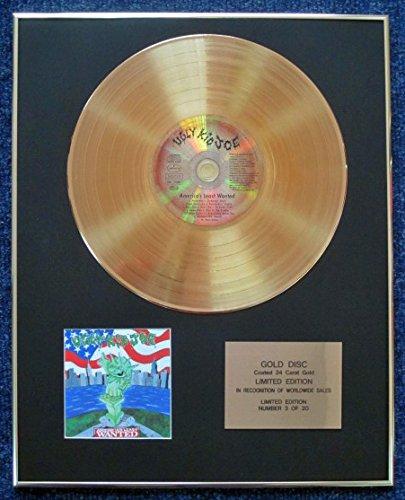 Century Presentations Ugly Kid Joe CD 24 Karat Gold beschichtete LP Disc - America's Least Wanted