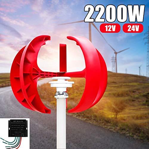 SISHUINIANHUA 4/5 Blades 2000W Wind Turbines Generator + Steuerung 12V24V Laterne Vertikal Die Achsen für Wohnhaushaltsstraßenbeleuchtung Verwenden,24v,4blades
