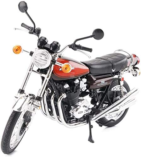 1yess Modell Motorrad Modell 1/12 Dekoration Spielzeug, Jungen Kleinkinder Kinder Puzzle (Farbe: Braun) 8bayfa (Color : Dark Blue)