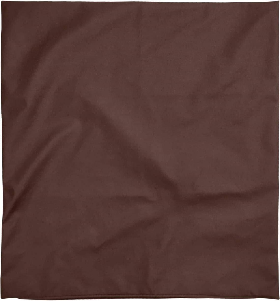 いちゃつく伝導率キャンドル座布団カバー 約59×63cm 八端判 R-24 PU合皮 ポリウレタン合成皮革 フェイクレザー ブラウン 日本製