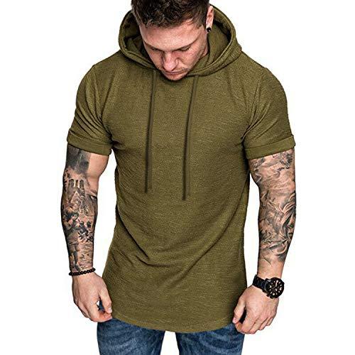 Coshow - Camiseta deportiva para hombre (corte ajustado)