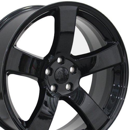OE Wheels LLC 20 Inch Fits Dodge Challenger Charger SRT8 Magnum Chrysler 300 SRT8 DG12 20x8 Rims Gloss Black SET