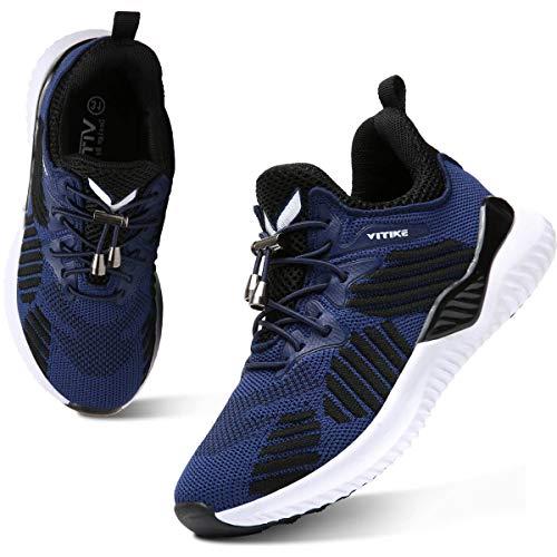 WETIKE Road Runing Schoenen voor jongen Unisex Kinderen Lage Top Trainers Sneakers (12.5UKChild-6UK)